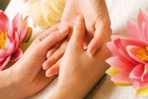 hand reflexology massage