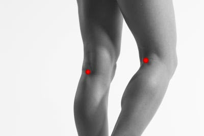 point on back of leg