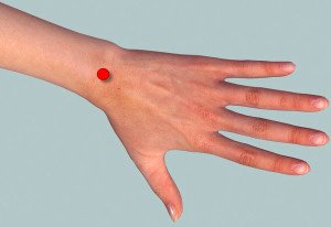 point on wrist
