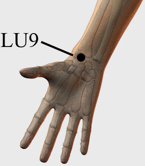 Acupressure point Lung 9