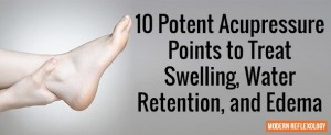 10 Potent Acupressure Points to Treat Swelling, Water Retention, and Edema