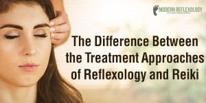 difference between the treatment approaches of reflexology and reiki