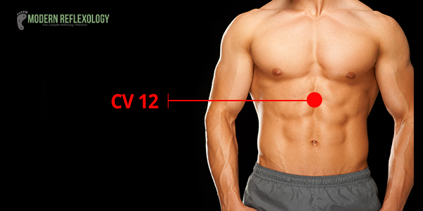 Acupressure Point CV12 (same as REN-12)– Zhong Wan