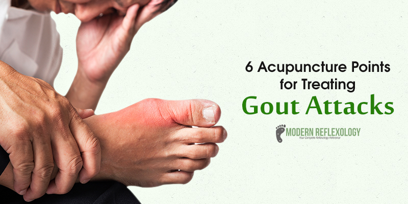 Acupuncture points for treating Gout Attack