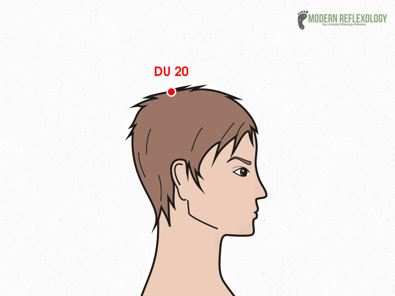 DU 20 acupuncture point treats