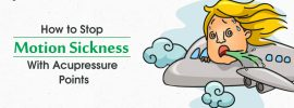 Treating Motion sickness with acupressure points